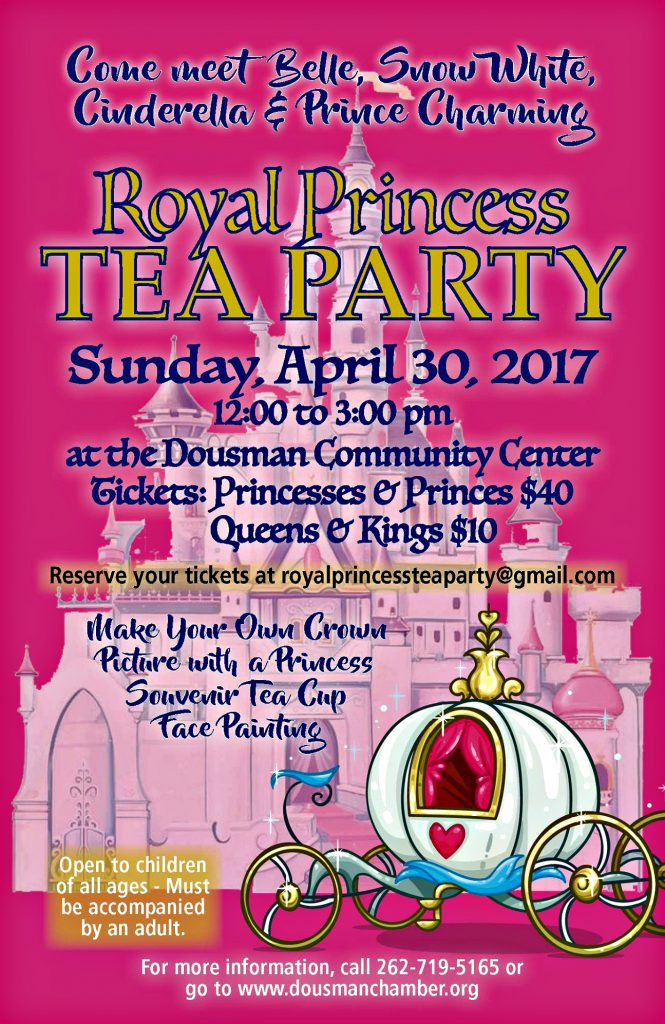 princess tea party, dousman area chamber of commerce