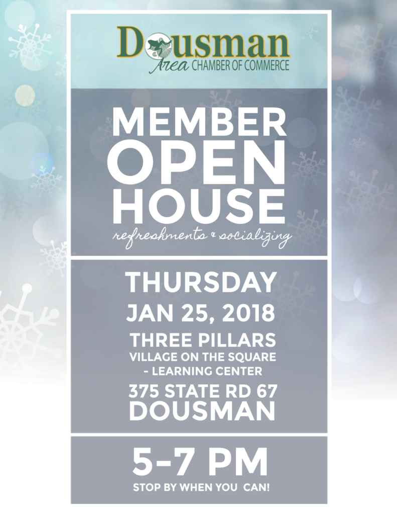 Dousman Chamber Member Holiday Party | 2018 @ Three Pillars Senior Living Communities - Village on the Square Learning Center | Dousman | Wisconsin | United States