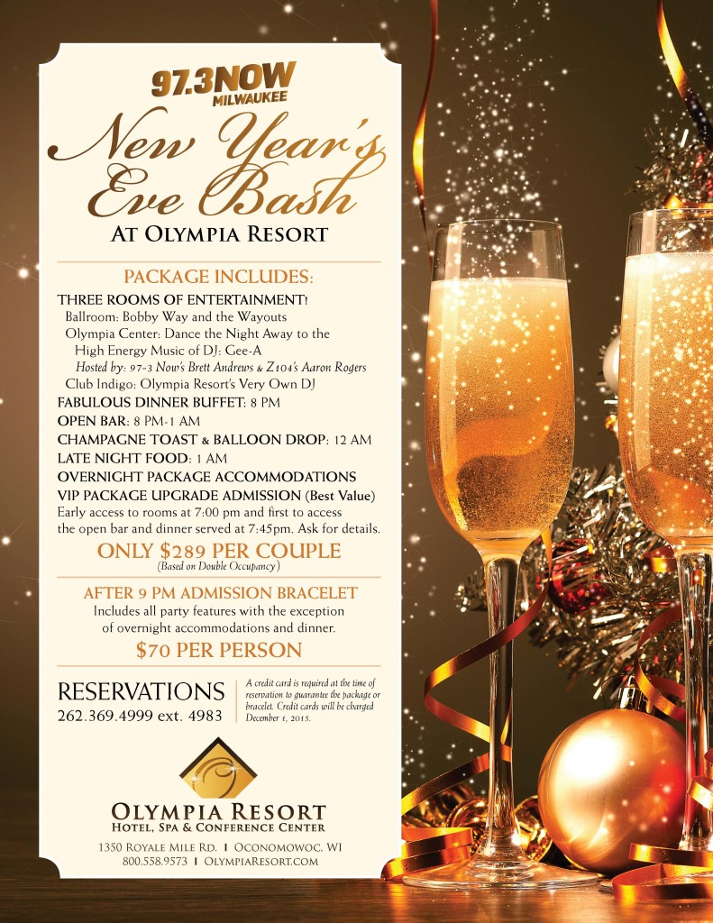 New Year's Eve, Olympia Resort, Oconomowoc, WI, Dousman Chamber