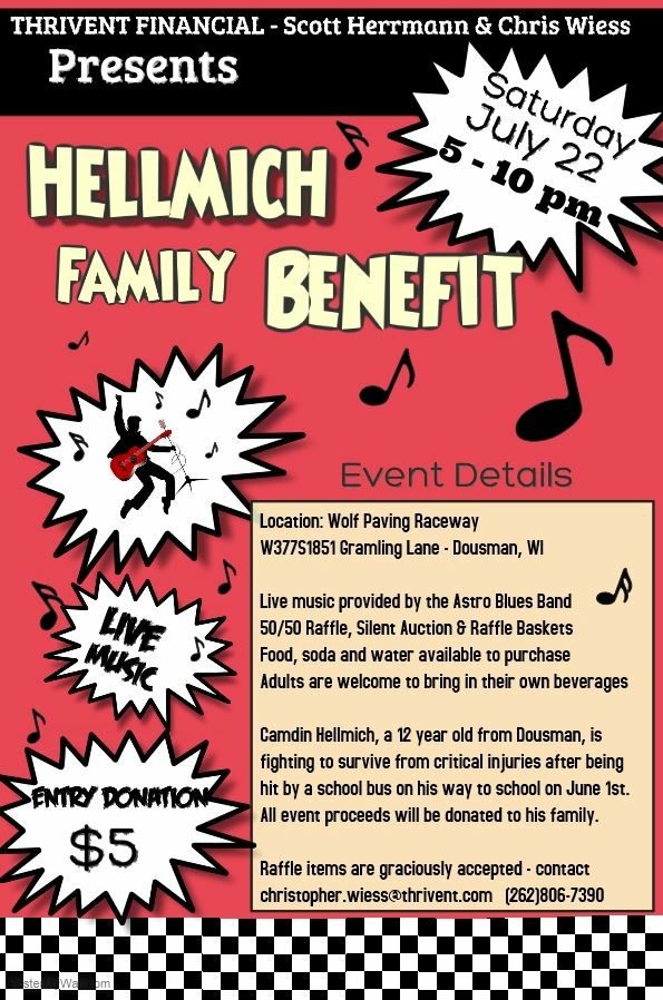 Hellmich Family Benefit @ Wolf Paving Raceway | Dousman | Wisconsin | United States