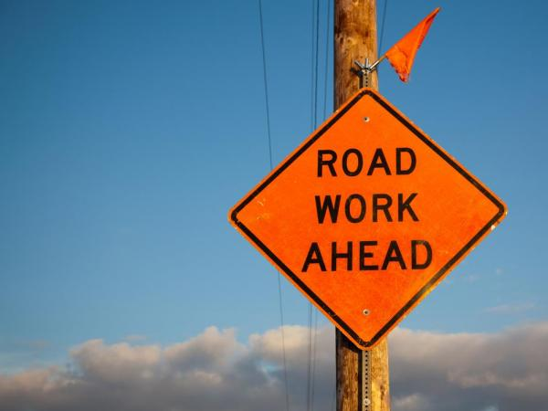 road work ahead, bridge, PIM, Dousman, Summit, Wisconsin, DOT