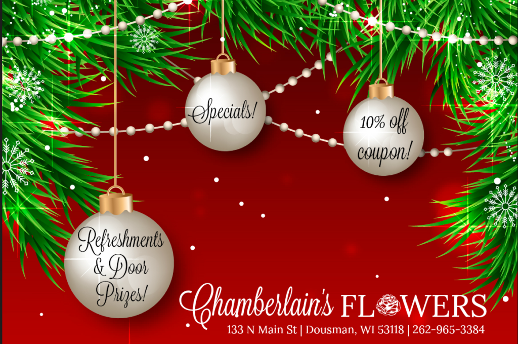 Holiday Open House at Chamberlain's Flowers - Nov 15 & 16, 2017! @ Chamberlain's Flowers | Dousman | Wisconsin | United States